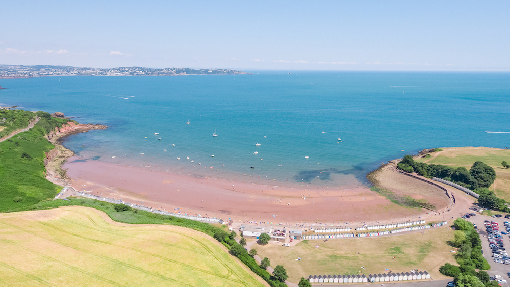 Broadsands beach in Paignton, Devon