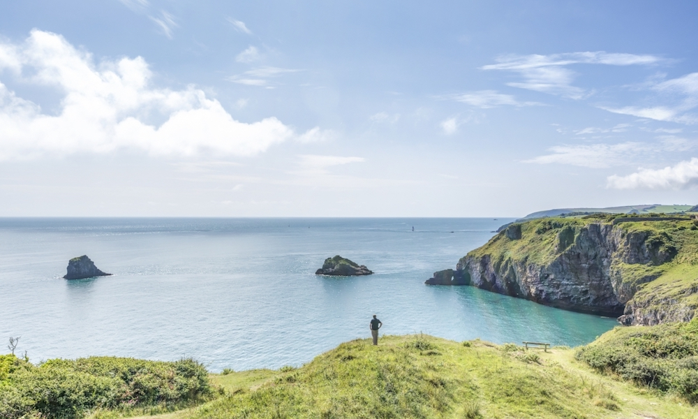 Walking at Berry Head in Brixham, Devon