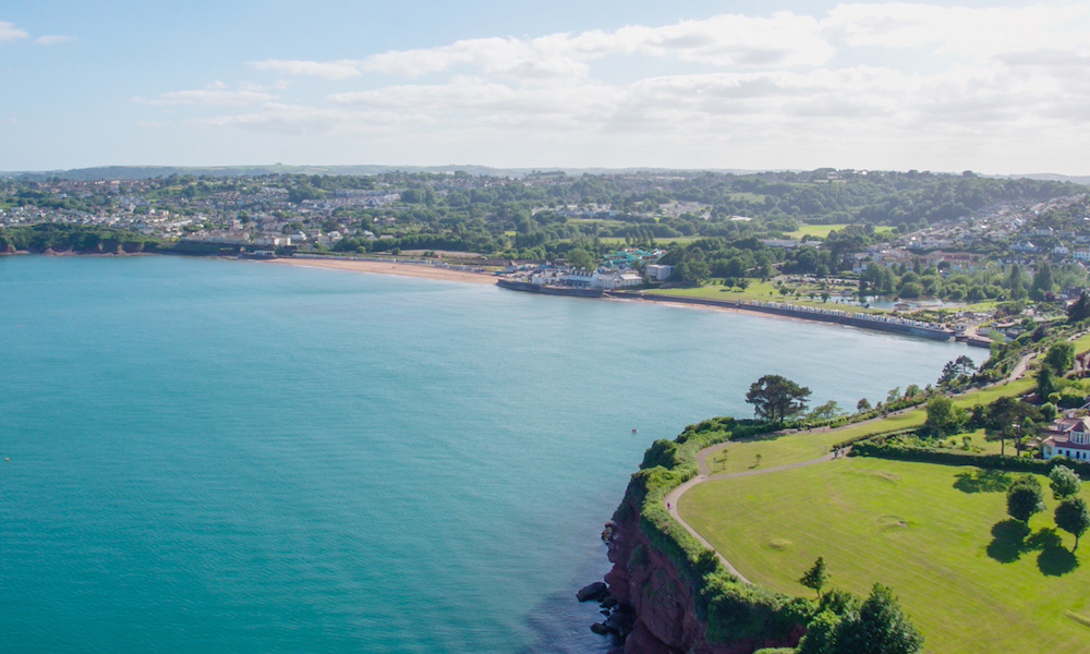 Walking from Paignton to Goodrington in Devon