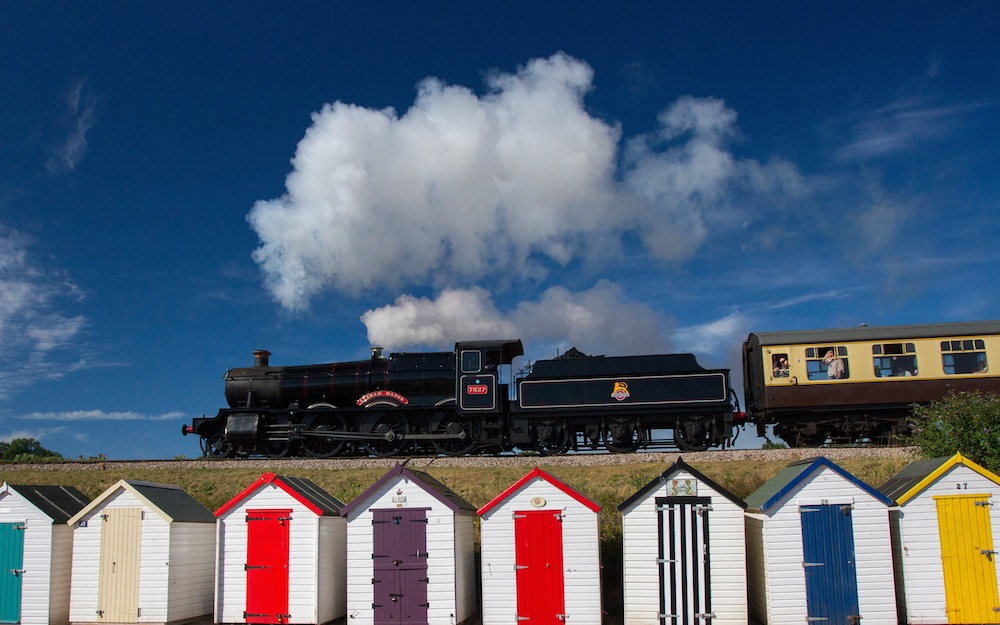 Ride the famous steam train past Goodrington in Paignton, Devon