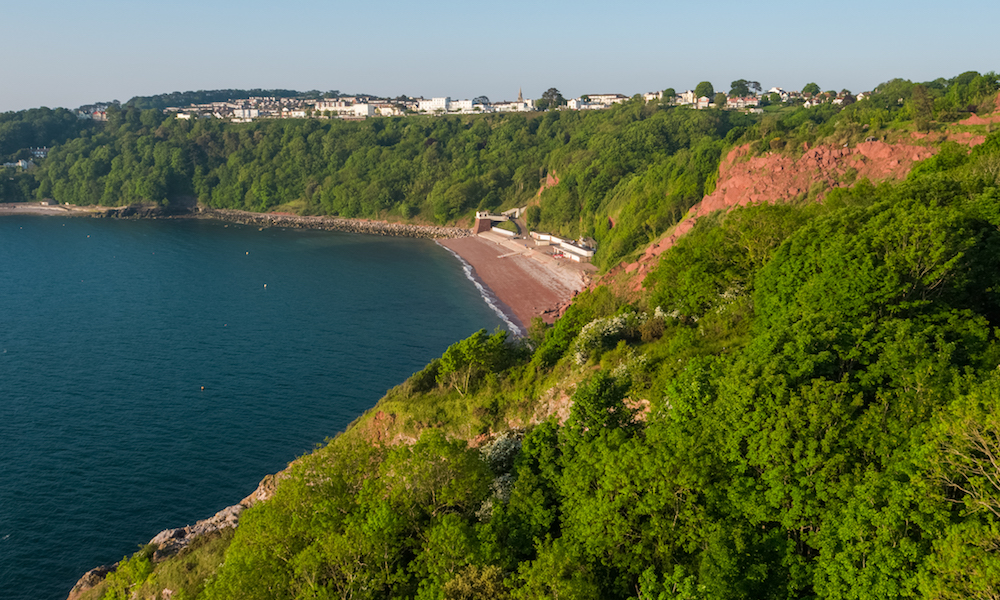 Oddicombe beach in Torquay, Devon