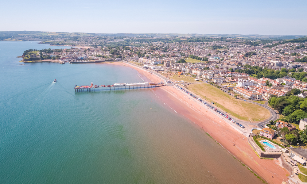 Paignton Sands and Paignton Pier in Devon