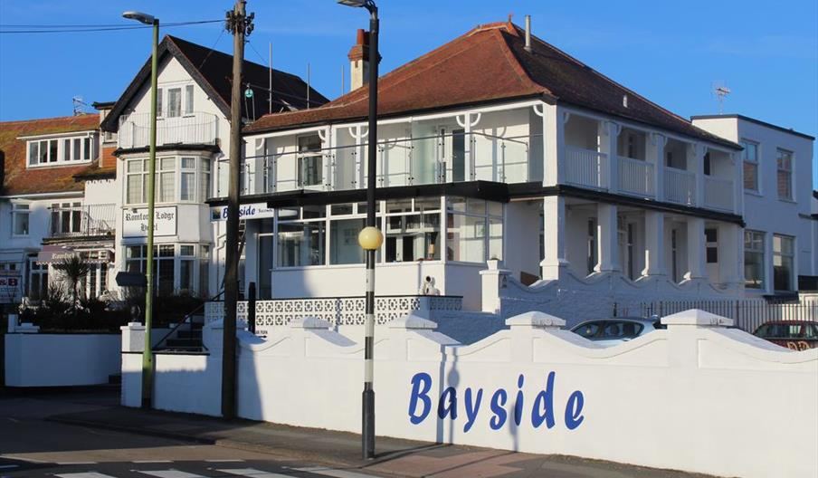 Front and side view of Bayside, Paignton, Devon