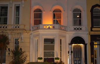 Cranborne Guest Accommodation at night, Torquay, Devon