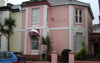 Entrance to 74Belgravia in Torquay, Devon