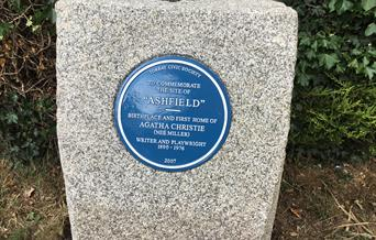 Agatha Christie Blue Plaque, Torquay, Devon