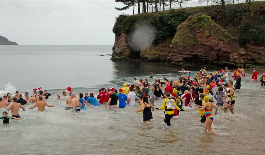 Boxing Day Dip, Torre Abbey, Torquay, Devon