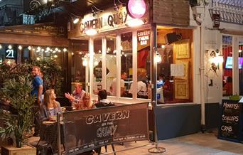Front of Cavern on the Quay, Torquay, Devon
