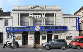 Entrance of Central Cinema in Torquay, Devon