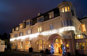 Headland Hotel front entrance Torquay in Devon