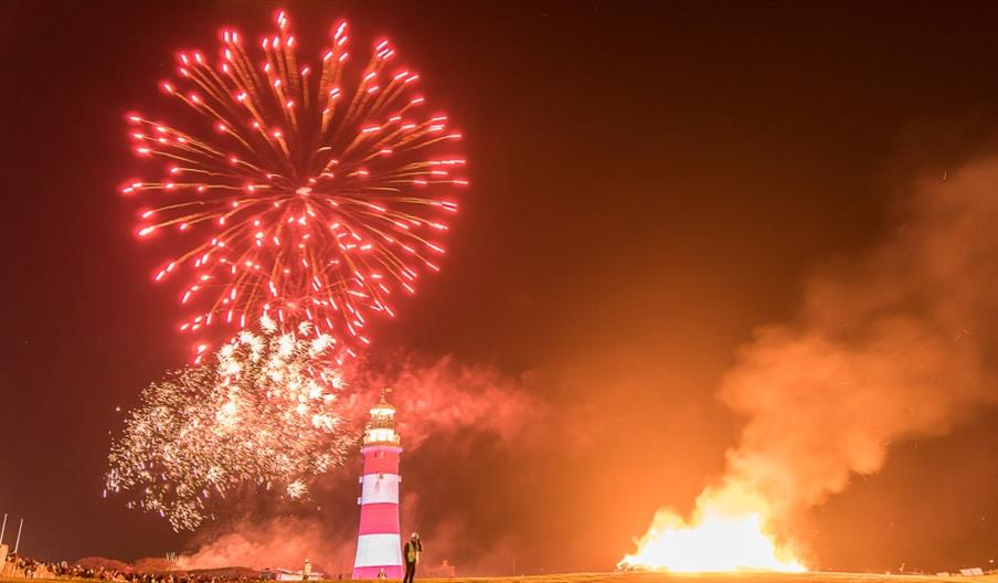 Plymouth bonfire night and fireworks