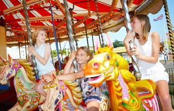 Carousel at Paignton Festival, Paignton, Devon