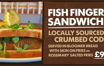 Step back to the Stone Age and taste the Kents Cavern Fish Finger sandwich