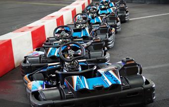 Go Karts at Goodrington in Paignton, Devon