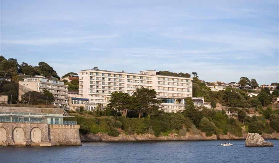 View from the sea of The Imperial Hotel, Torquay