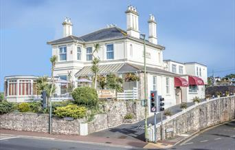 Lindum Lodge bed and breakfast, main entrance, Torquay, Devon