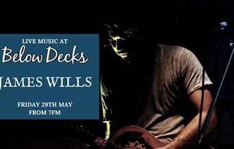 James Wills at Below Decks, Torquay, Devon