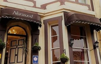 Entrance to the Norwood, Torquay, Devon