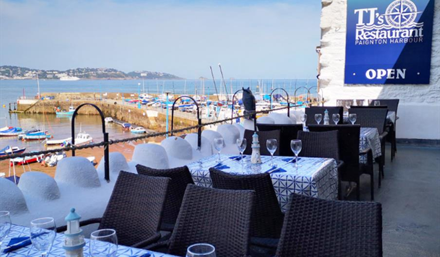 View from TJ's restaurant by the Harbour, Paignton, Devon