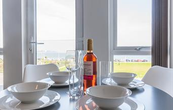 The Hollicombe sleeps up to 4 people with one double bed and a double sofa bed in the lounge. It has a beautiful sea view over TorBay.  It's on the 1s