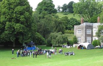 Classic Motorcycles at Cockington Court