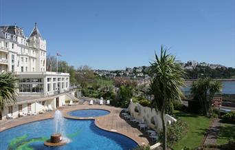 The outside pool at The Grand Hotel, Torquay,Devon