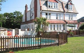 Yardley Manor Hotel outside pool, Torquay, Devon
